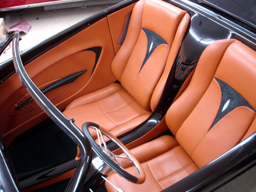 speedstar with stingray inserts street seats custom street rod interiors. Black Bedroom Furniture Sets. Home Design Ideas